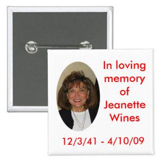 """Jeanette, 2"""" x 2"""" button"""