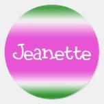 Jeanette Classic Round Sticker