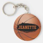 Jeanette Grunge Basketball Keychain / Keyring