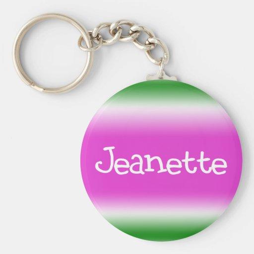 Jeanette Keychain
