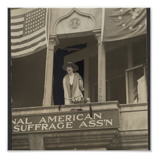 Jeanette Rankin - First Congresswoman Poster