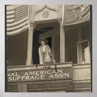 Jeanette Rankin - primer Congresswoman Póster