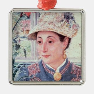 Jeanette Rubenson, 1883 Adorno Navideño Cuadrado De Metal