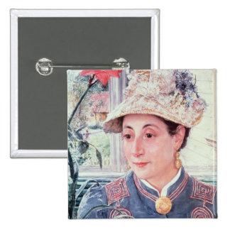 Jeanette Rubenson, 1883 Pinback Button