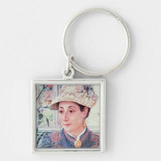 Jeanette Rubenson, 1883 Silver-Colored Square Keychain