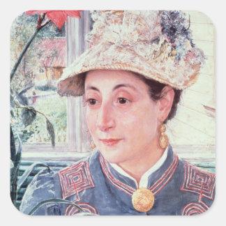 Jeanette Rubenson, 1883 Square Stickers