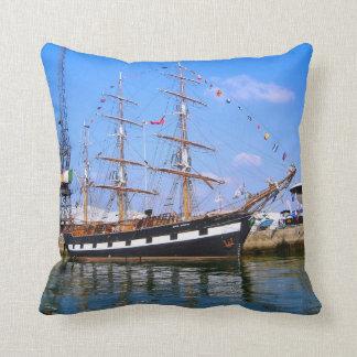 """""""Jeanie Johnston"""" Tall ship Pillows"""