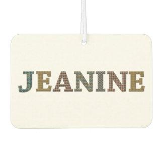 Jeanine Oxford Tweed Design on Winter White Car Air Freshener