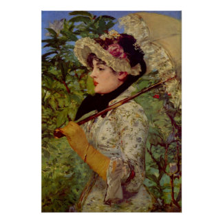 Jeanne by Edouard Manet Poster
