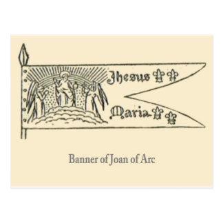 Jeanne D Arc bandera Postales