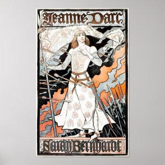 Jeanne d'Arc by Eugene Grasset 1899 Poster