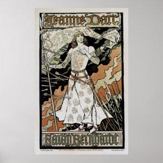 Jeanne d'Arc ~ Sarah Bernhardt Poster