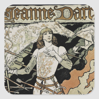 Jeanne d'Arc ~ Sarah Bernhardt Square Sticker
