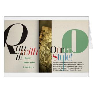 Jeanne: Dürer Style Card
