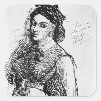 Jeanne Duval, 1865 Pegatina Cuadrada