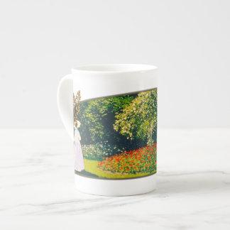 Jeanne en el jardín - taza de la porcelana de hues taza de porcelana