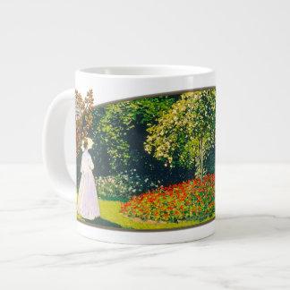 Jeanne en el jardín - taza enorme taza grande