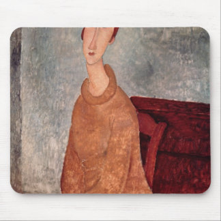 Jeanne Hebuterne in a Yellow Jumper, 1918-19 Mouse Pad