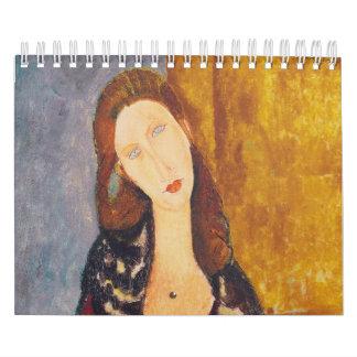 Jeanne Hebuterne portrait by Amedeo Modigliani Calendar