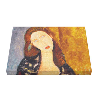 Jeanne Hebuterne portrait by Amedeo Modigliani Canvas Print