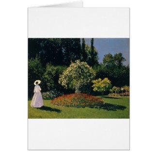 Jeanne-Marguerite Lecadre in the Garden (1866) Card