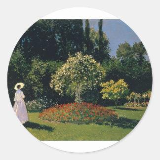 Jeanne-Marguerite Lecadre in the Garden (1866) Classic Round Sticker