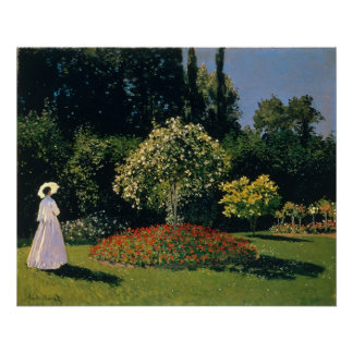 Jeanne-Marguerite Lecadre in the Garden Canvas Poster