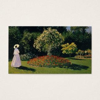 Jeanne-Marguerite Lecadre in the Garden - Monet Business Card