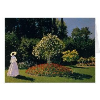 Jeanne-Marguerite Lecadre in the Garden - Monet Card