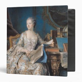 """Jeanne Poisson el marqués de Pompadour, 1755 Carpeta 1 1/2"""""""