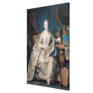 Jeanne Poisson el marqués de Pompadour 1755 Impresión En Lona