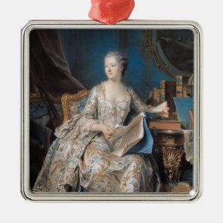 Jeanne Poisson  the Marquise de Pompadour, 1755 Square Metal Christmas Ornament
