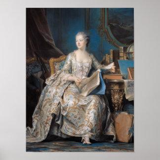 Jeanne Poisson  the Marquise de Pompadour, 1755 Poster