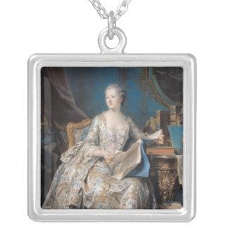 Jeanne Poisson  the Marquise de Pompadour, 1755 Silver Plated Necklace
