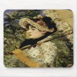Jeanne: Primavera 1881 por Manet Alfombrilla De Ratones