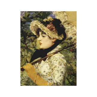 Jeanne Spring 1881 by Manet Canvas Print