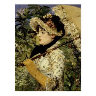 Jeanne: Spring 1881 by Manet Postcard