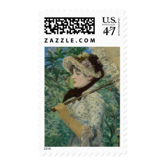 Jeanne (Spring) Oil Painting Stamp