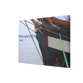 """Jeannie Johnston"" sail training vessel, tall ship Canvas Print"