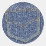 Jeans2 Round Sticker