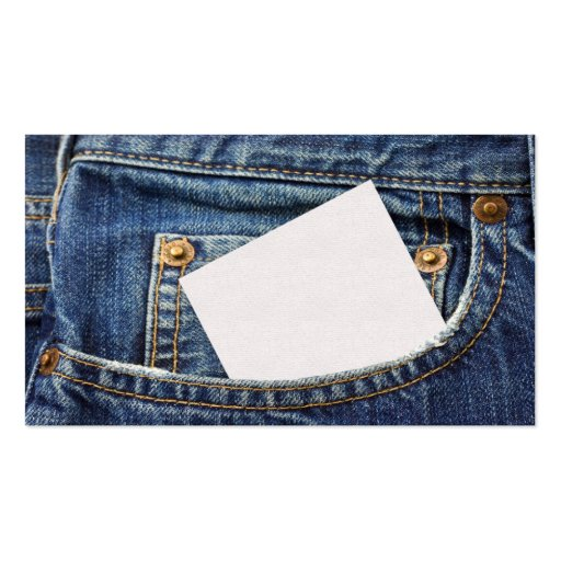 Jeans Double-Sided Standard Business Cards (Pack Of 100)