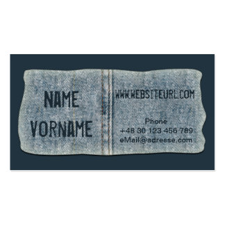jeans business card templates