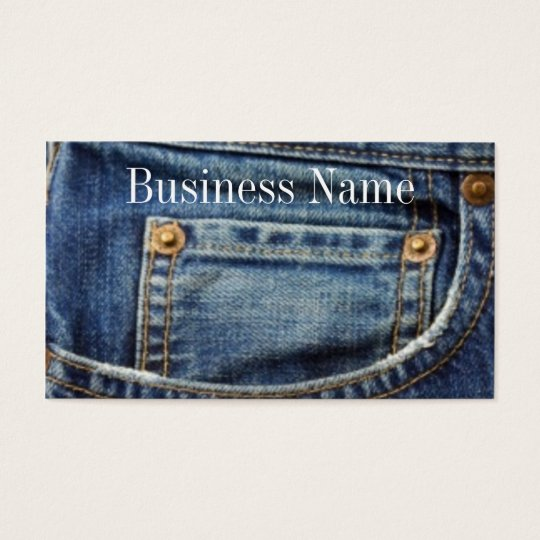 Jeans Business/Profile Card