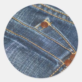 Jeans Classic Round Sticker