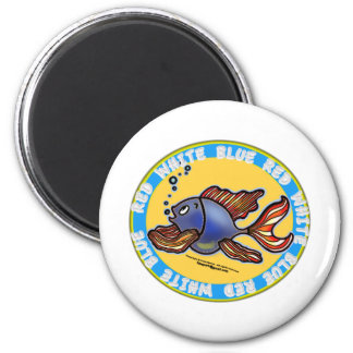Jeans Fish 2 Inch Round Magnet