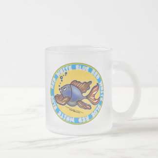 Jeans Fish Frosted Glass Coffee Mug