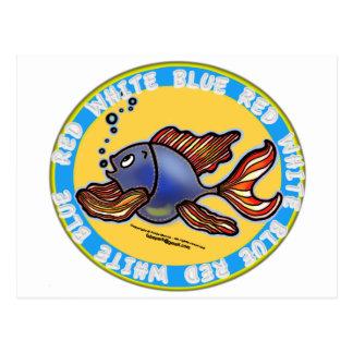 Jeans Fish Postcard