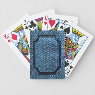 Jeans Pattern Bicycle Playing Cards