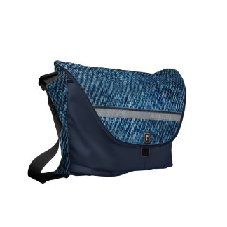 Jeans Pattern Courier Bag