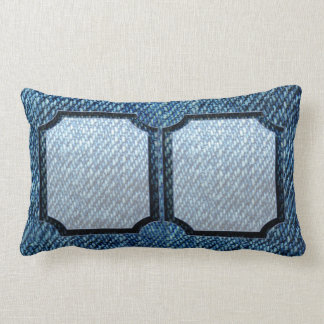 Jeans Pattern Lumbar Pillow